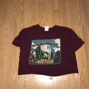cropped zion np tee
